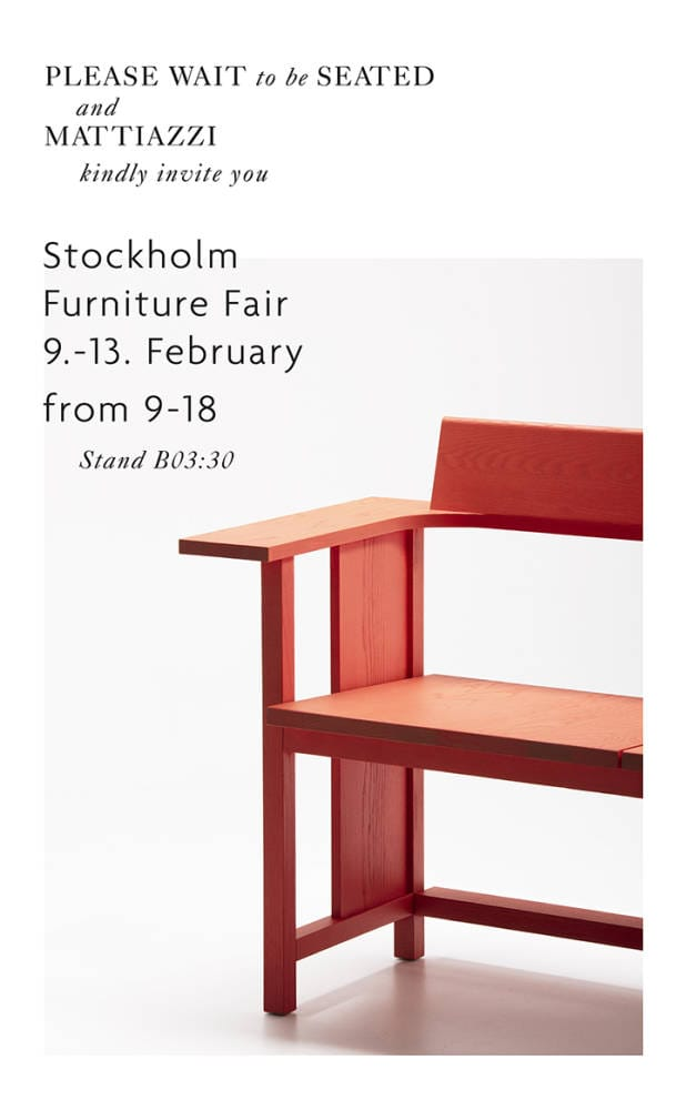 Mattiazzi And Please Wait To Be Seated Exhibit At Stockholm