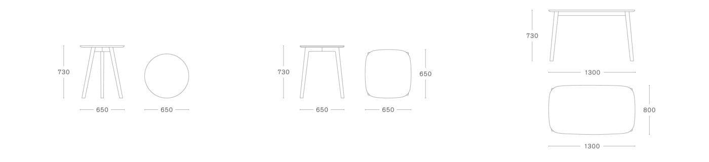 Mc3 Osso Table By Ronan Amp Erwan Bouroullec For Mattiazzi