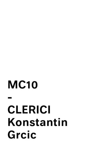 CLERICI by KONSTANTIN GRCIC MATTIAZZI