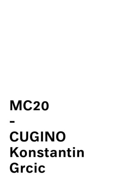 MC20 - CUGINO by KONSTANTIN GRCIC for Mattiazzi