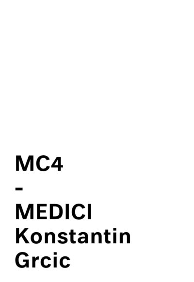 MC4 - MEDICI COLLECTION by CONSTANTIN GRCIC for MATTIAZZI